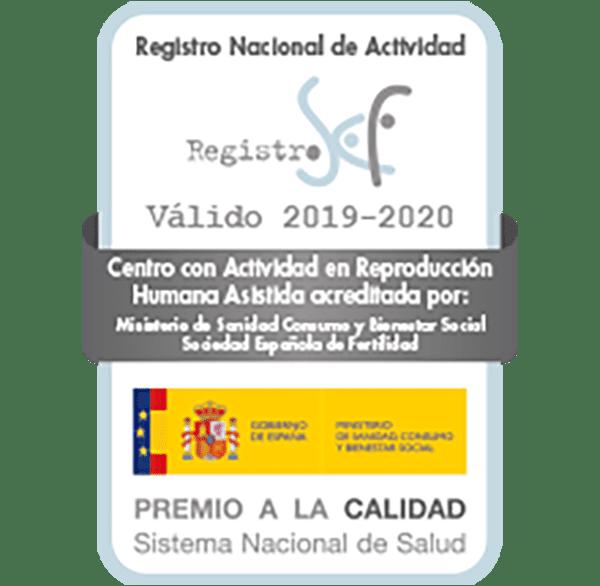 Sello sociedad española de fertilidad